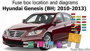 Fuse Box Location And Diagrams  Hyundai Genesis  Bh  2010
