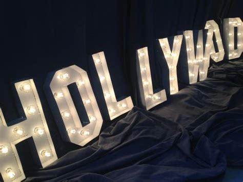 hand crafted hollywood sign marquee letter   tall