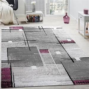 Teppich Grau Lila : designer teppich abstrakt grau lila meliert design teppiche ~ Whattoseeinmadrid.com Haus und Dekorationen