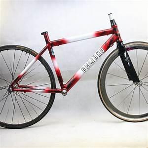 Cadre Noir Et Blanc : cadre fourche 650 noir blanc et rouge geliano duret t36 cyclollector ~ Teatrodelosmanantiales.com Idées de Décoration