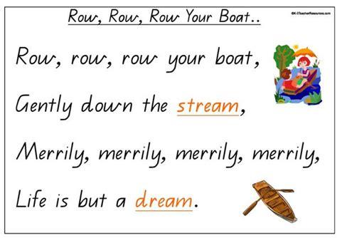 Row Row Row Your Boat Lyrics by Row Your Boat With Lyrics Nursery Rhyme Auto Design Tech