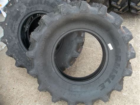 Two 9.5x16, 9.5-16 R1 6 Ply Bar Lug John Deere Tractor