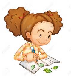 Kid studying clipart collection