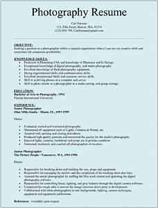 Photographer resume sample sample resumes for Resume samples for photographers