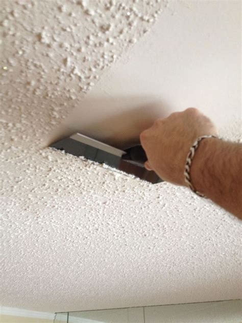 removing popcorn ceilings   home renovation