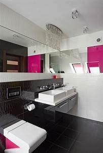 Déco Salle De Bain Noir Et Blanc : d co maison en rouge pour un appartement moderne vivons maison ~ Melissatoandfro.com Idées de Décoration