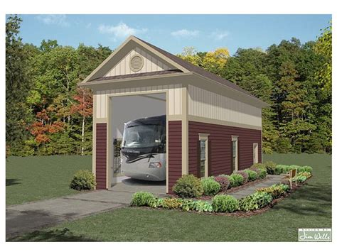 Detached Rv Garage Plan, Single Bay