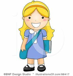 Royalty Free School Girl Clipart Illustration | Free ...