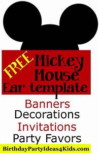 FREE Mickey Mouse Ears Template! Use to make Mickey and ...
