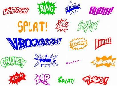 Words Superhero Sound Comic Word Describe Writing