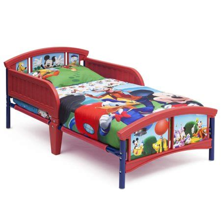 mickey mouse bed mickey mouse plastic toddler bed walmart