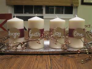 Hope Peace Joy Love Advent Candle Wreath