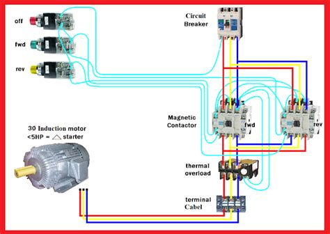 Electric Motor Diagram by Motor Forward Wiring Diagram Elec Eng World
