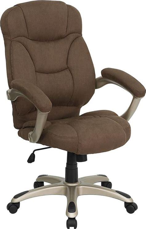 brown microfiber fabric computer office desk chair ebay