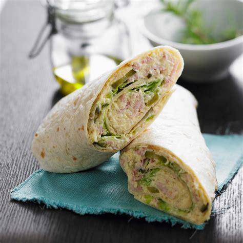 recette de cuisine au feminin wrap au thon facile et pas cher recette sur cuisine
