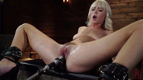 Solo Slut Toys Her Shaved Cunt During A Crazy Bondage Solo