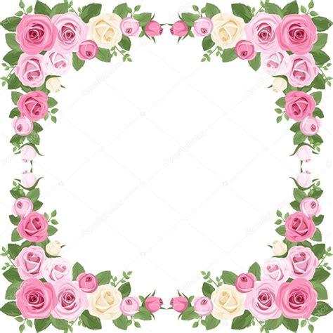 marco foto con rosas vintage Marco de flores PNG