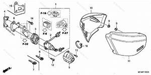 Honda Motorcycle 2006 Oem Parts Diagram For Side Cover