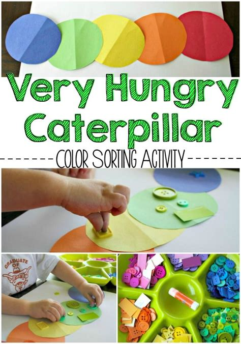 the hungry caterpillar color sorting activity 889 | eric carle hungry caterpillar color craft activities for preschoolers