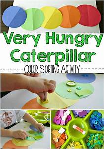The Very Hungry Caterpillar Color Sorting Activity