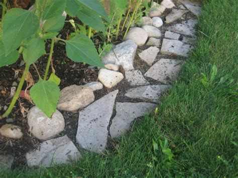 mow flower bed edging make mowing easy with a flagstone edging strip