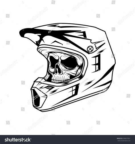 Dirt Bike Helmet Drawing Cubangbakinfo