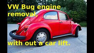 Vw Bug Engine Removal  With Out A Car Lift