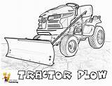 Coloring Pages Tractor Tractors Plow Boss Farm Yescoloring Plows Pick Template sketch template
