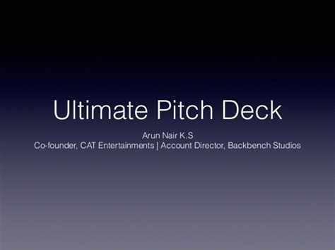 pitch deck template for startups