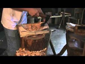 Carving a Wooden Bowl: Green Wood and Hand Tools - YouTube