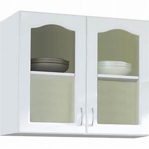 Meuble Cuisine Haut Pas Cher : meuble haut cuisine vitree achat vente pas cher ~ Teatrodelosmanantiales.com Idées de Décoration