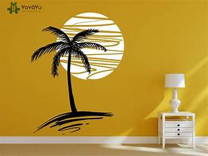 Modern design wall decal holiday vinyl wall stickers for Beautiful palm tree decal for wall