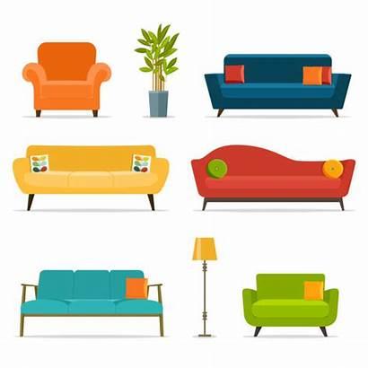 Furniture Vector Illustrations Sofa Clip Illustration Chair