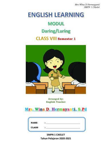 Simple past (past simple and continuous). Modul Bahasa Inggris Kelas 8 SMP/ MTs untuk Daring ...