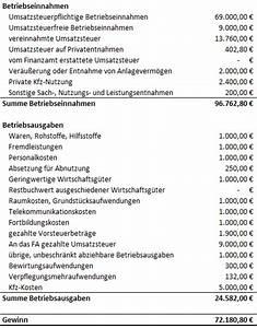 Einkommensteuer 2017 Berechnen : einnahmen berschussrechnung e r 1 1 anleitung pierre tunger ~ Themetempest.com Abrechnung