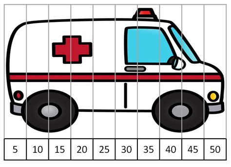 Community Helper Vehicle Counting Puzzles