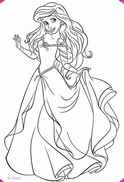 Ariel Coloring Princess Disney Pages Characters Walt