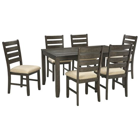 signature design by rokane 7 dining set