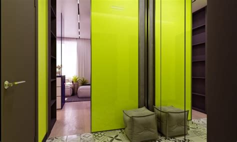 A Pair Of Small Apartments With Dazzling Neon Accents by A Pair Of Small Apartments With Dazzling Neon Accents