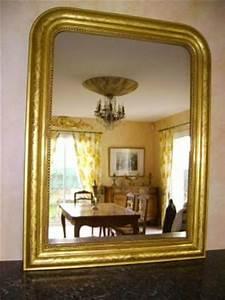 Miroir Doré Ancien : miroir argente ancien louis philippe dore a l 39 or fin ~ Teatrodelosmanantiales.com Idées de Décoration