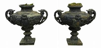 19th Century Pair French Urns Painted