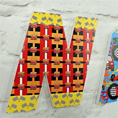 racing cars letters  wooden letters company