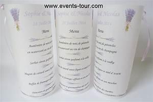 Menu photophore lavande x1 for Couleur avec bleu marine 15 menu photophore champetre x1