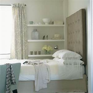 Love the clever addition of wall ledges to maximize space for Maximize small bedroom