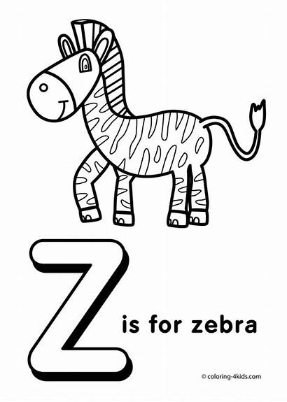Letter Alphabet Coloring Pages Word Printable Preschool