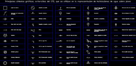 symbols  water installation dwg plan  autocad