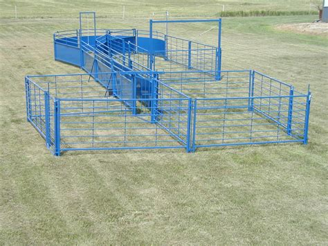 corral cattle sheep systems livestock goat handling corrals system panels pens goats panel gates sydell scales working portable equipment threewillowsranch