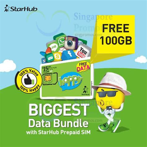 starhub  gb data   prepaid sim card