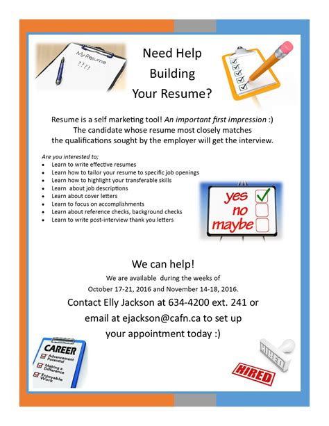Need Help Resume need help building your resume book your appointment now