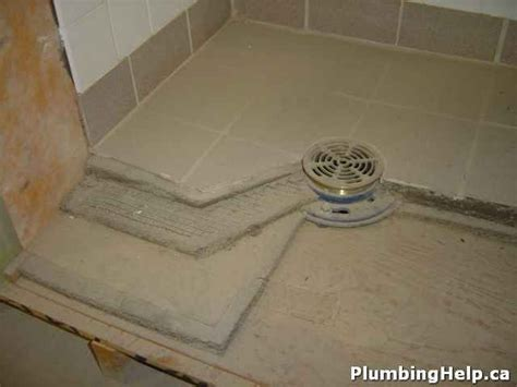 Concrete Shower Pan   How to Construct a Tiled Shower